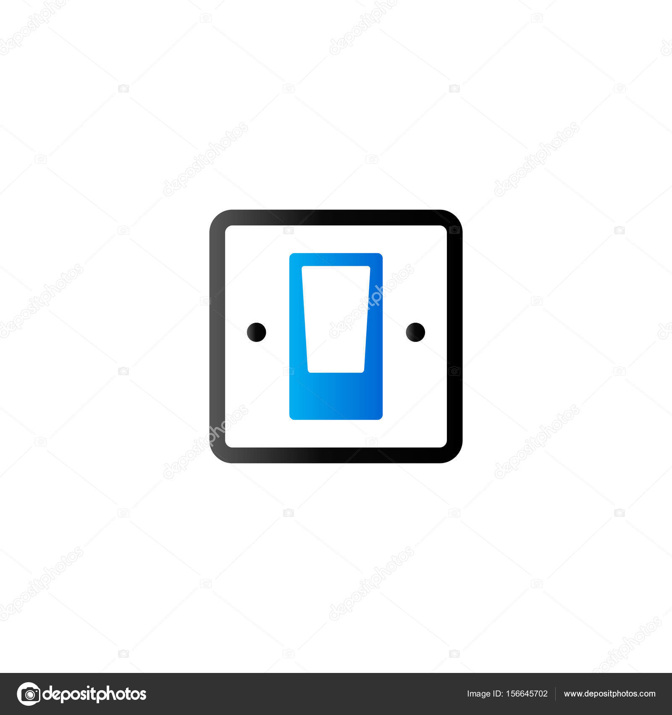 Duo-Ton-Symbol - elektrischer Schalter — Stockvektor © puruan #156645702