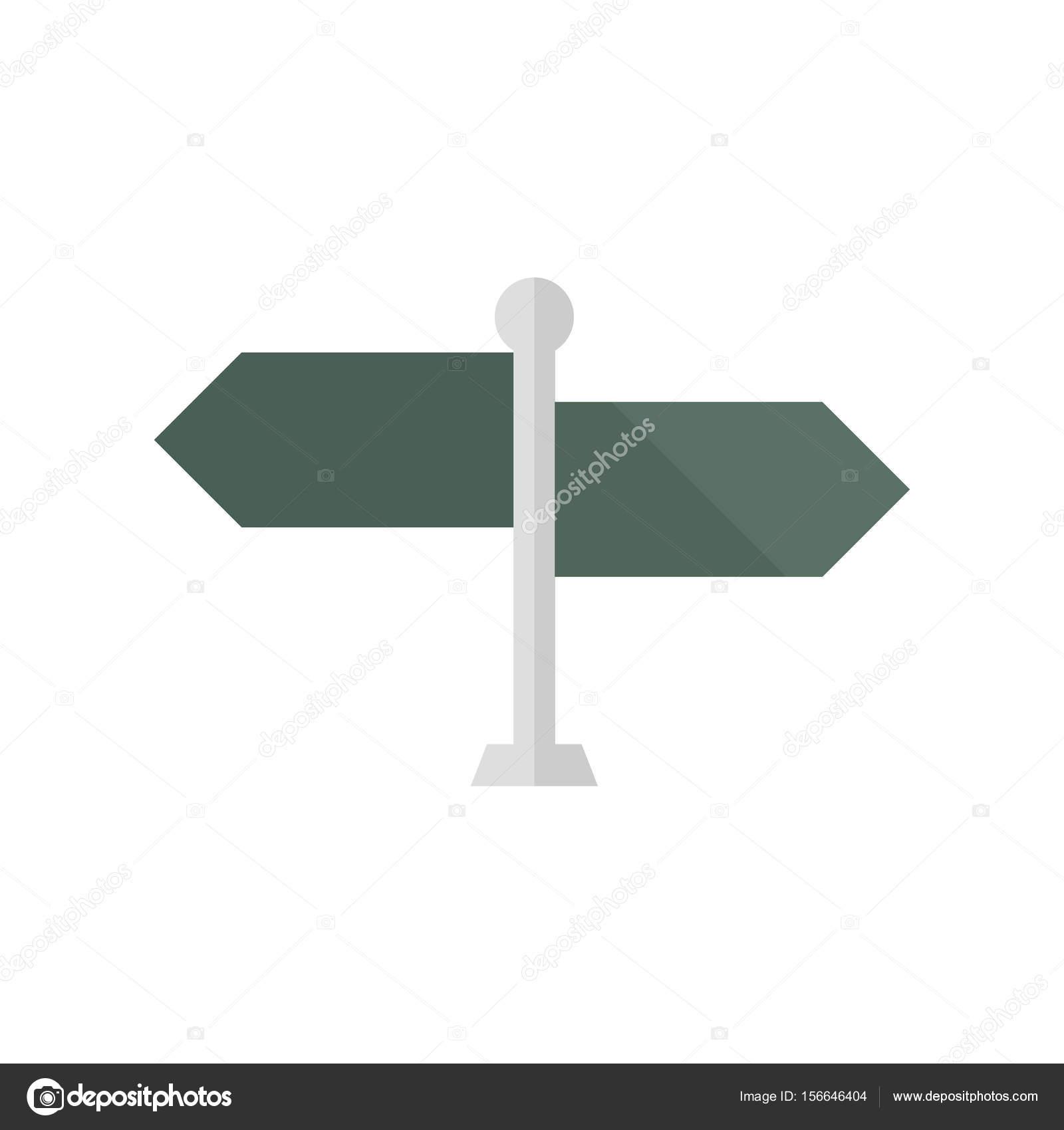 flat icon road sign post stock vector puruan 156646404