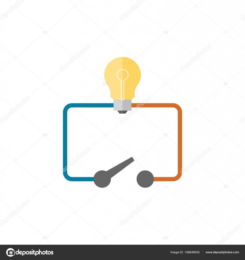 Flach-Symbol - Schalter-Diagramm — Stockvektor © puruan #156648932