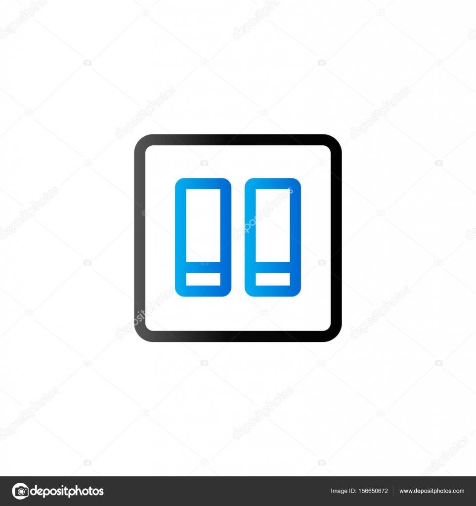 Duo-Ton-Symbol - elektrischer Schalter — Stockvektor © puruan #156650672