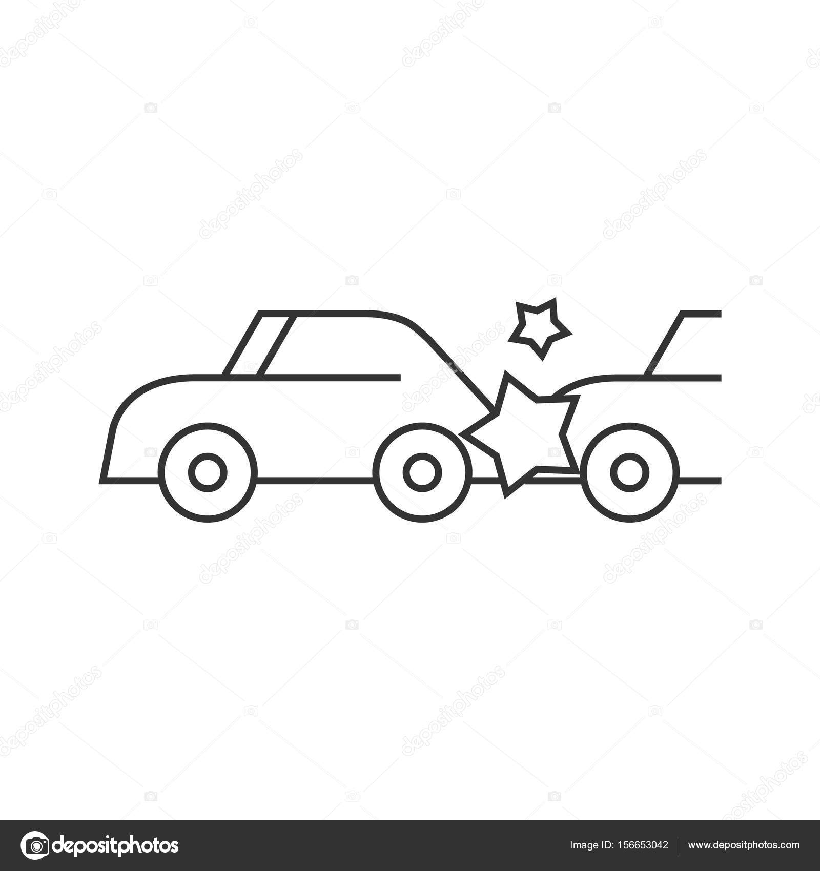 Outline Icon Car Crash Stock Vector C Puruan 156653042