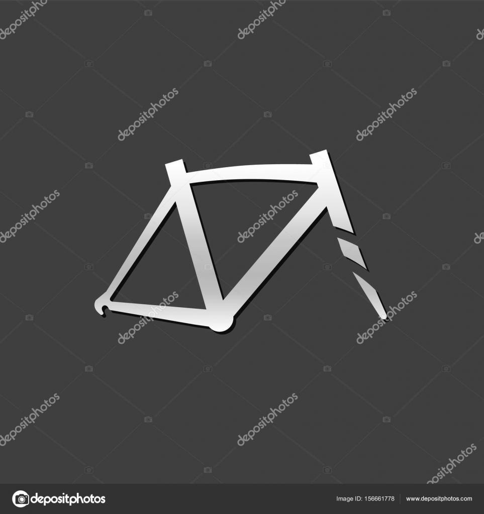 Fahrrad-Rahmen-Symbol — Stockvektor © puruan #156661778