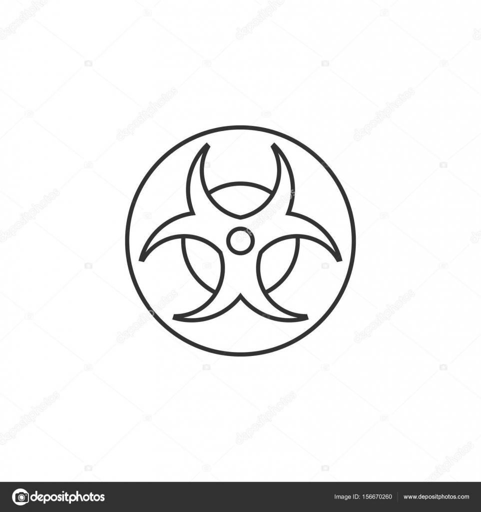 Bersicht Symbol Biohazard Stockvektor Puruan 156670260