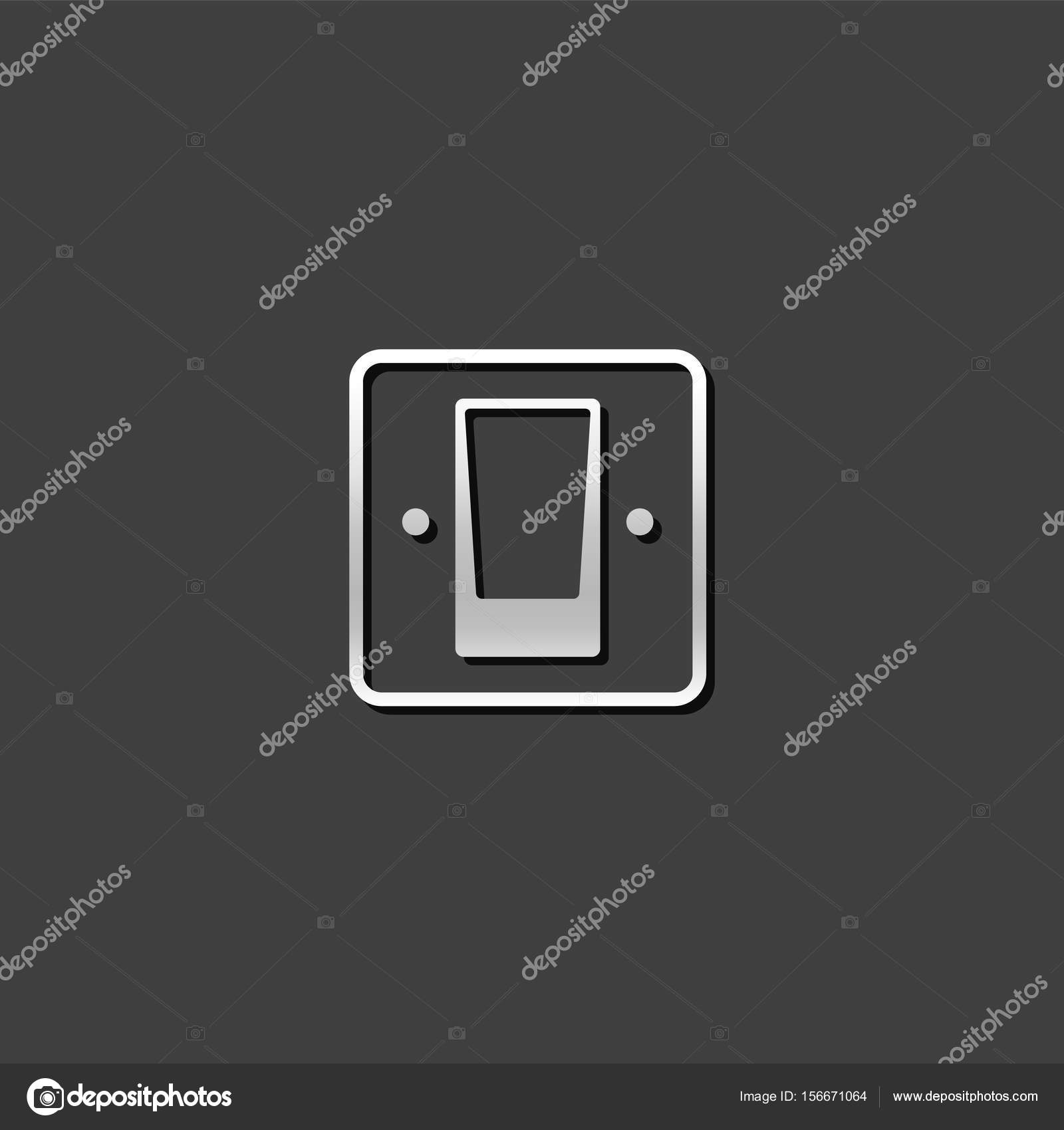 Metallische Icon - elektrischer Schalter — Stockvektor © puruan ...
