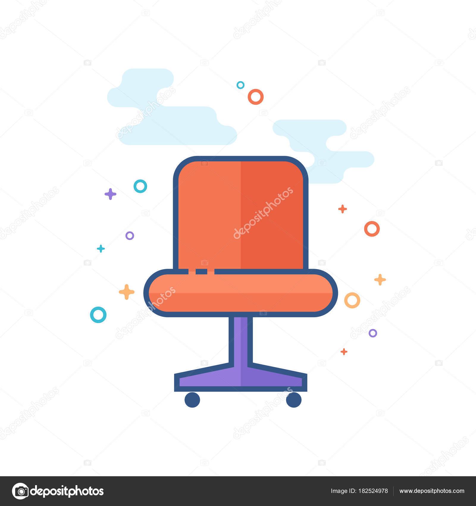 Poltrona Ufficio In Stile.Icona Poltrona Ufficio Stile Delineato Colore Piatto Illustrazione