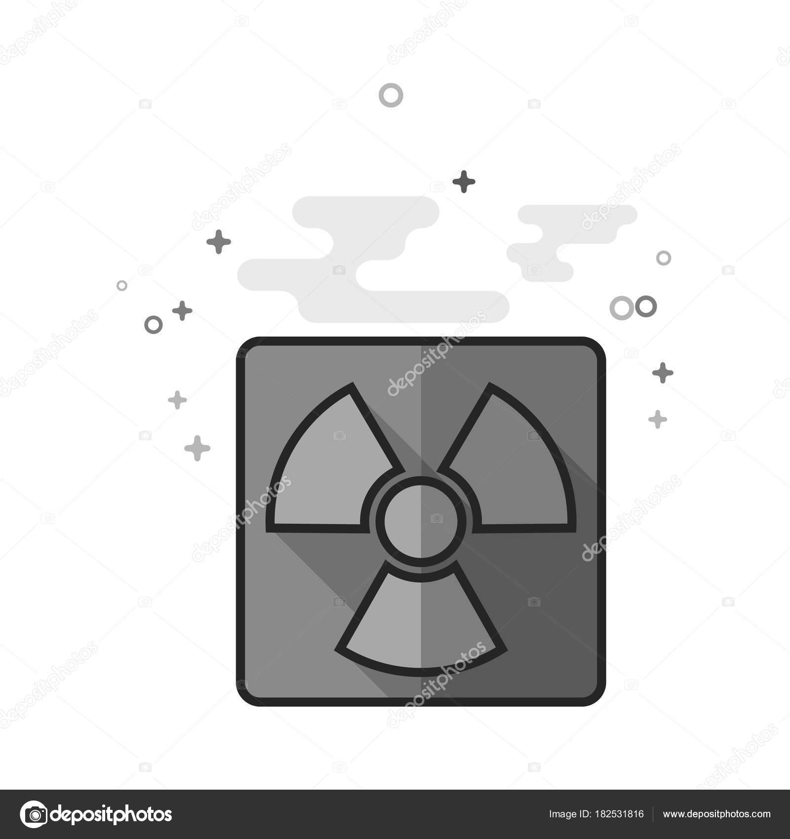 Flat grayscale icon radioactive symbol stock vector puruan flat grayscale icon radioactive symbol stock vector buycottarizona