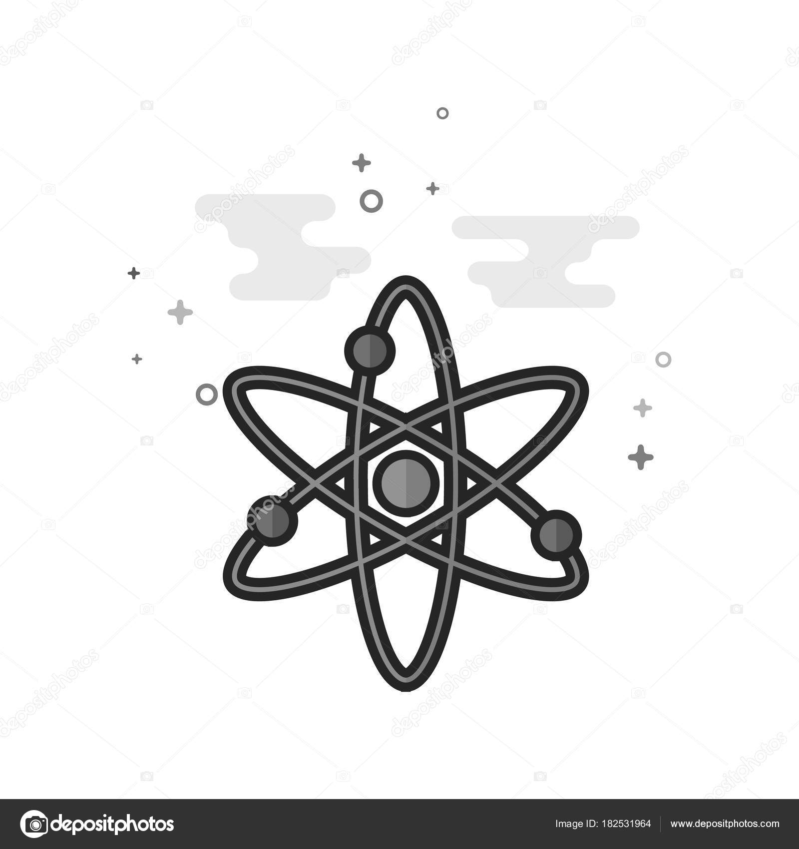 Atom structure icon flat outlined grayscale style vector atom structure icon flat outlined grayscale style vector illustration stock vector ccuart Images