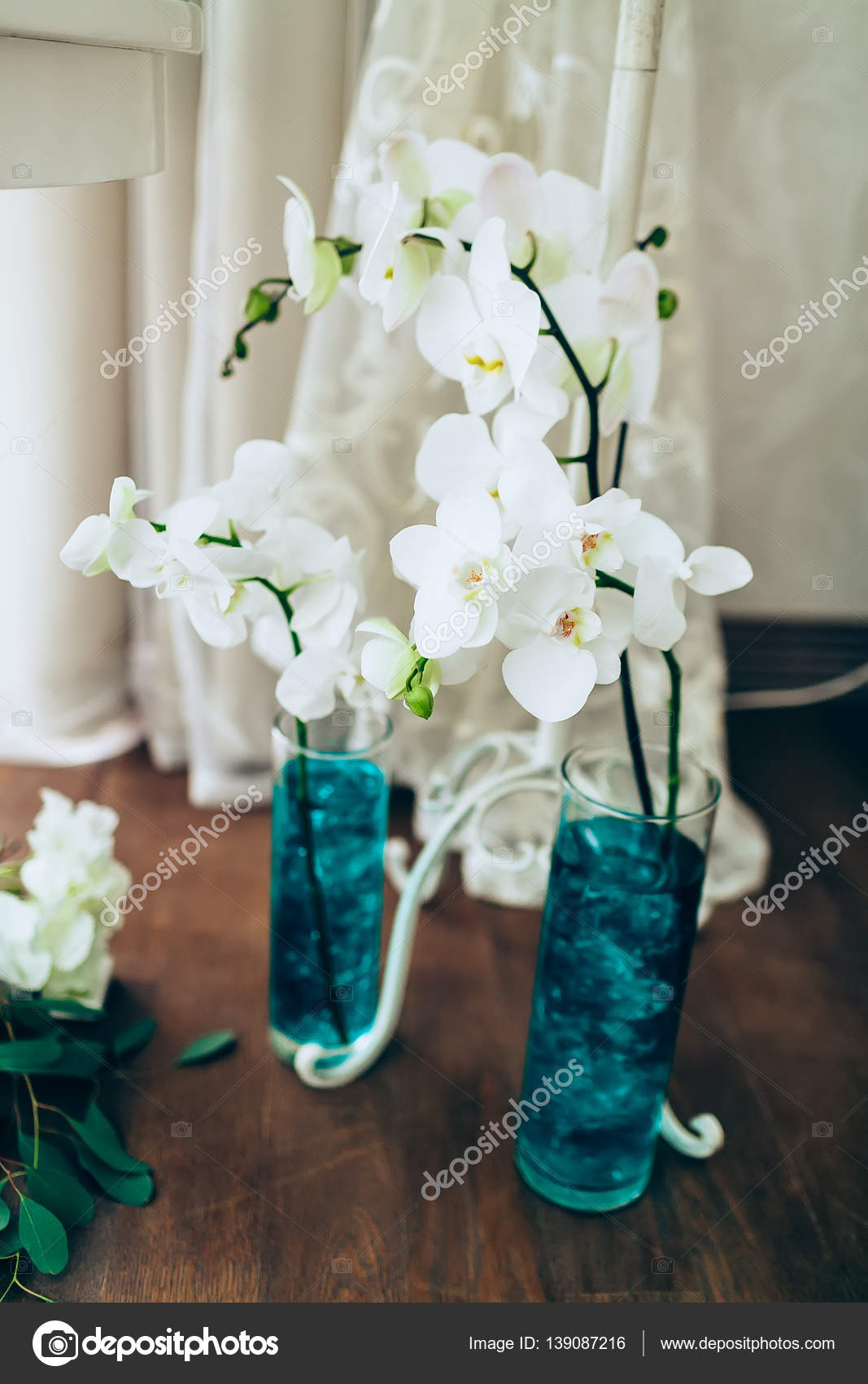 orchidee blanche vase