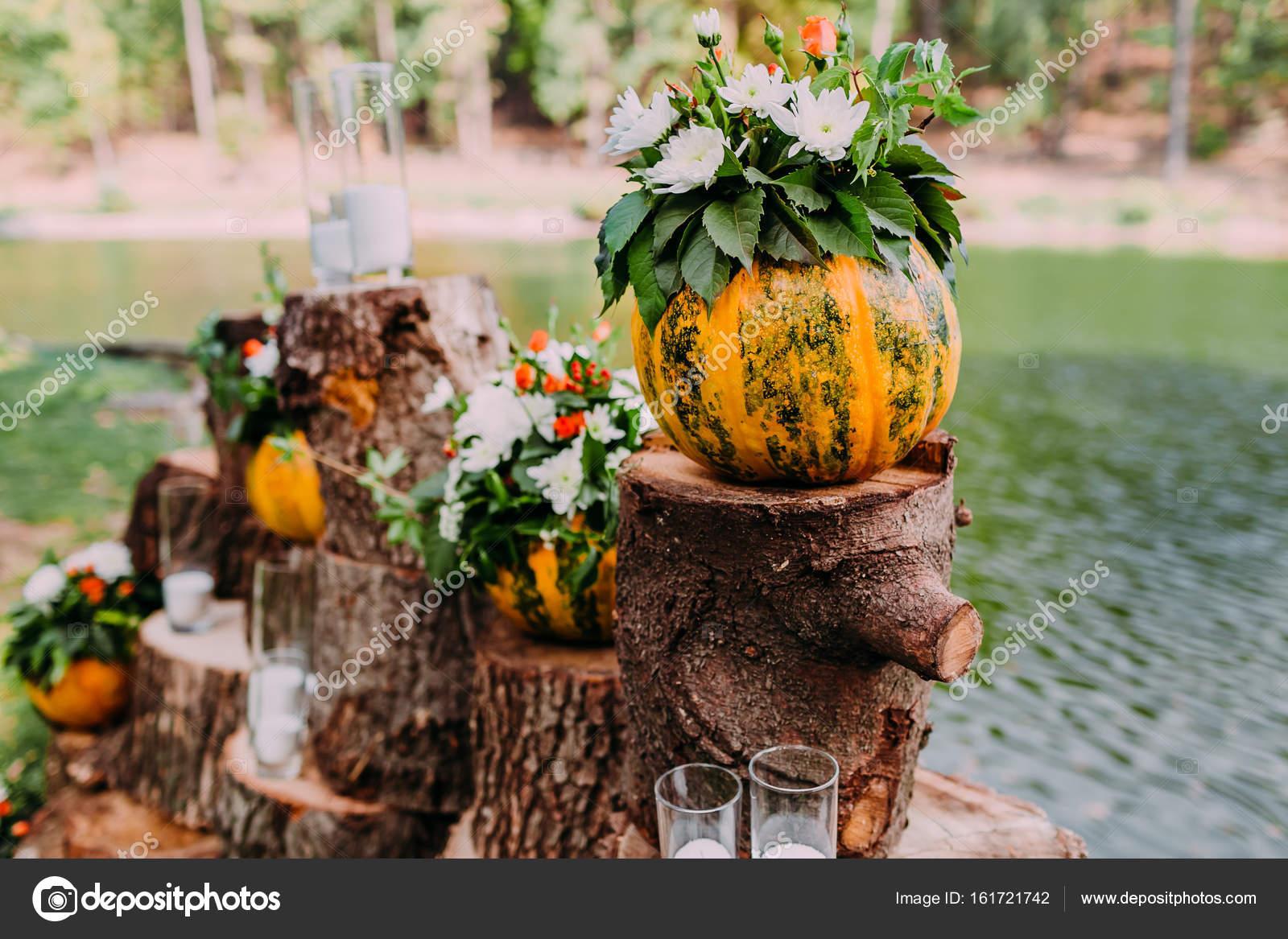 Decorazioni Matrimonio Arancione : Matrimonio d autunno decorazione di nozze bella nei colori arancio