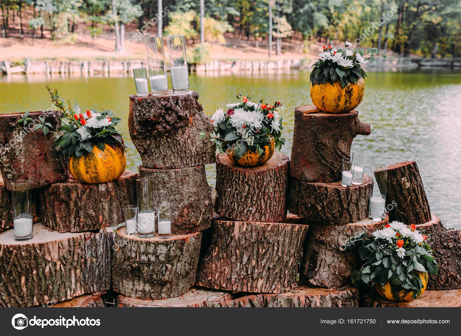 Hermosa decoraci n oto o boda en colores naranja una - Decoracion naranja ...