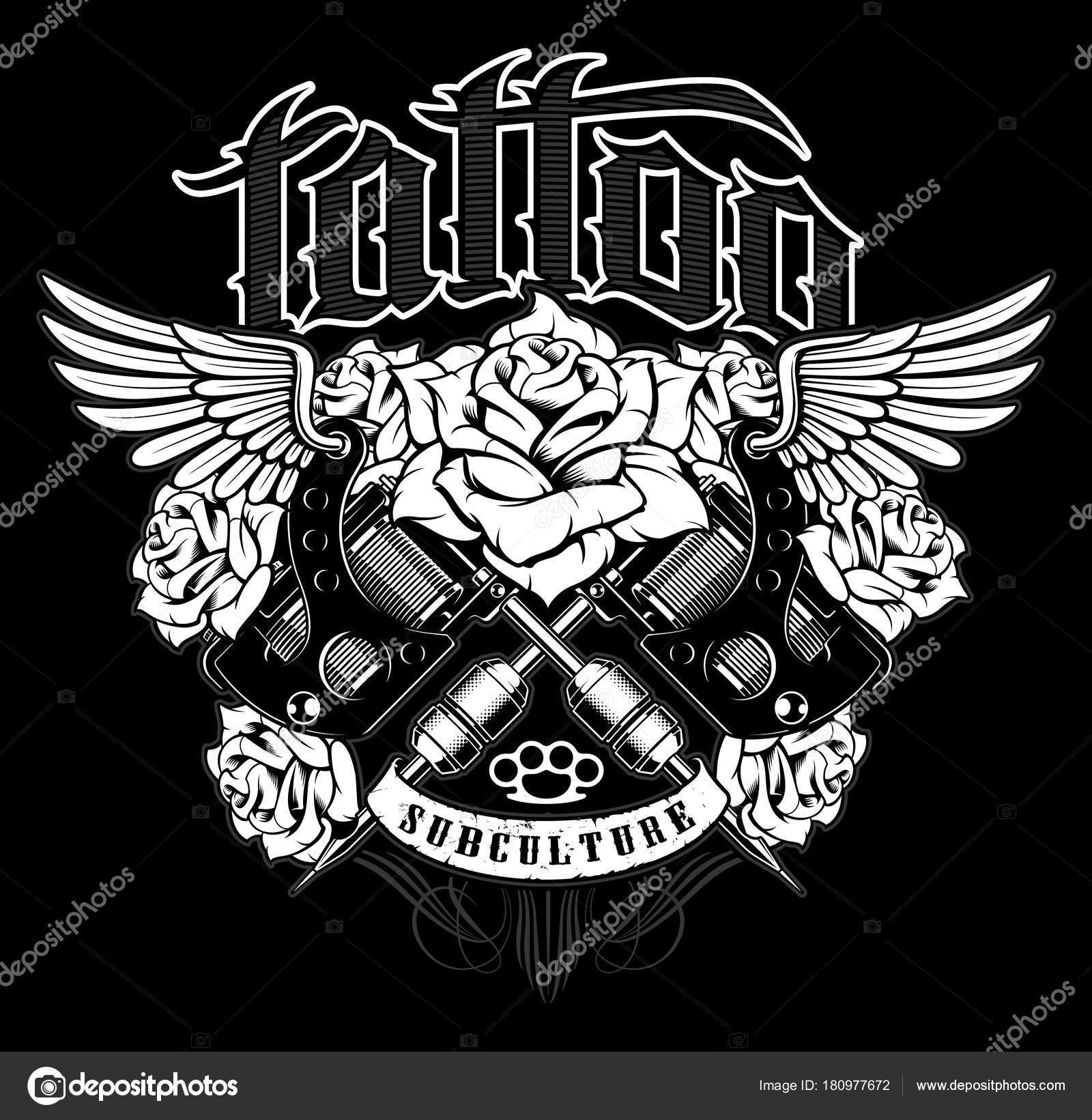 Vectorizado Tattoo Machine Logo Designs Tattoo Shirt Design