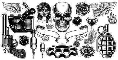 Set of tattoo art
