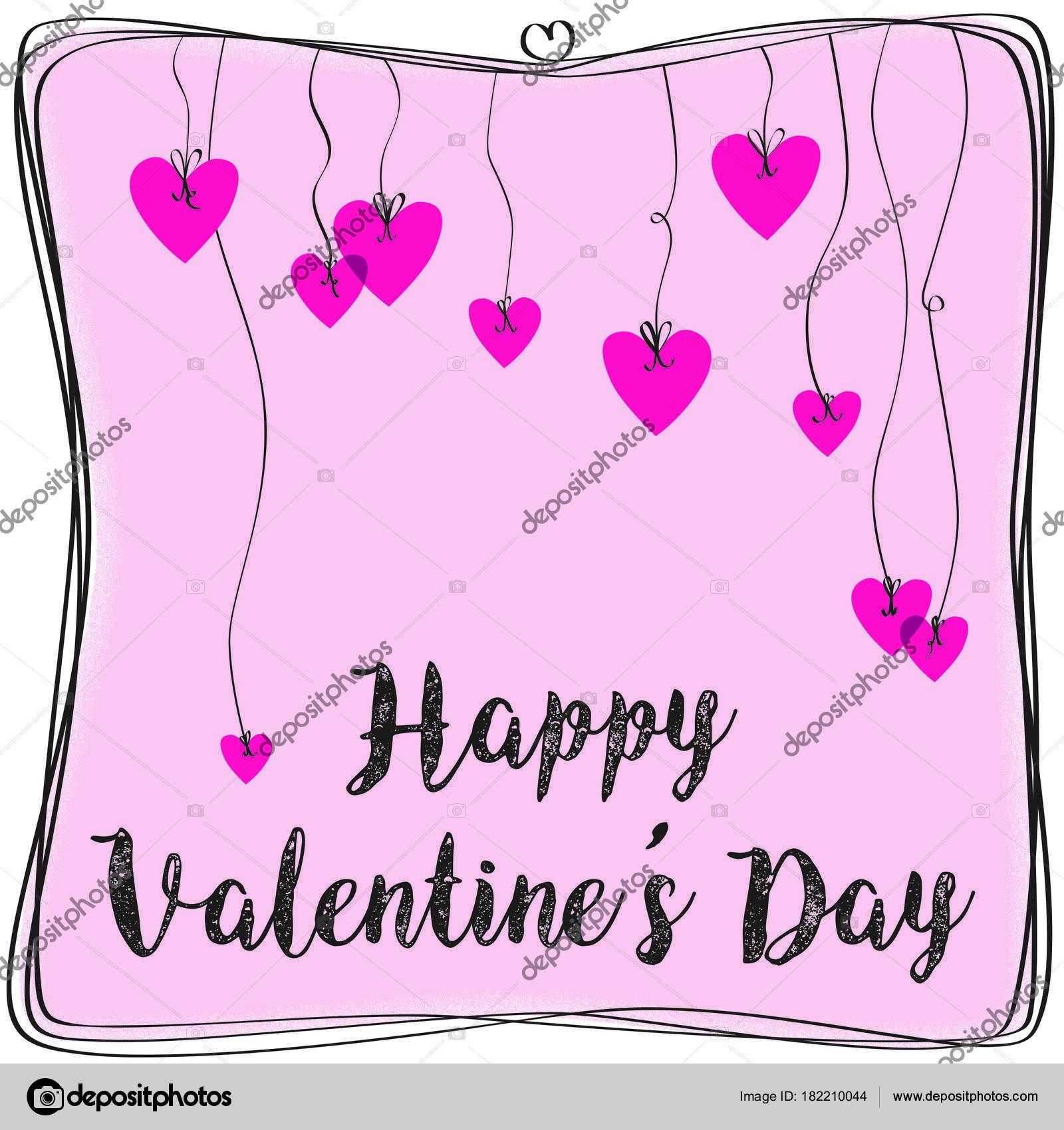 Happy Valentines Day Hearts And Border Stock Vector C Zeeborg