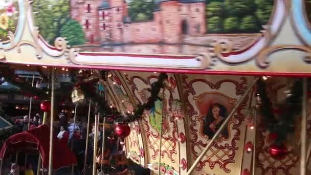 christmas market carousel xmas