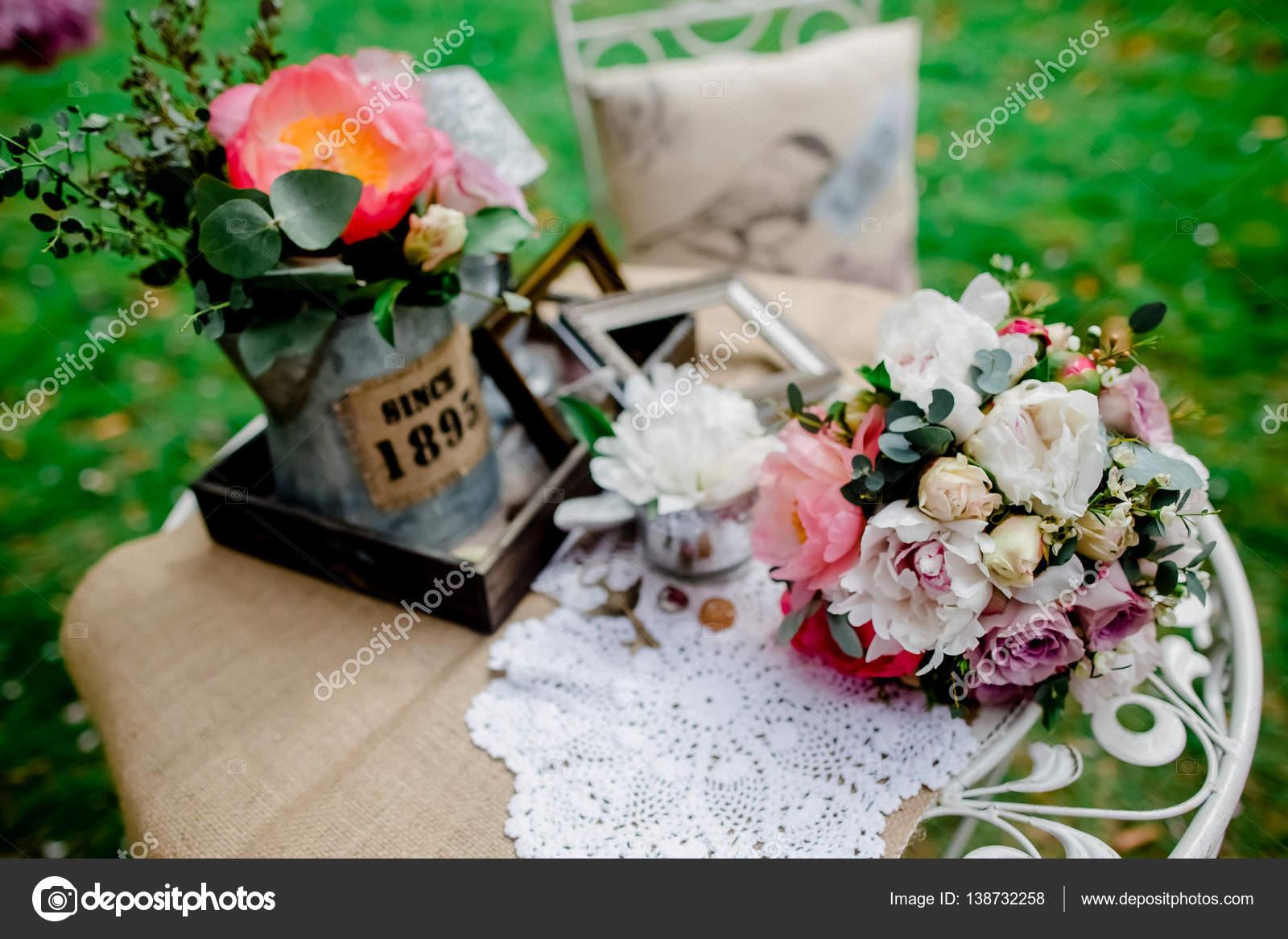 Dekoration Hochzeit Blumen Vintage Stockfoto C Lelik83 138732258