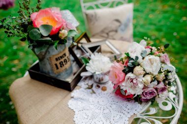 Decoration wedding flowers vintage