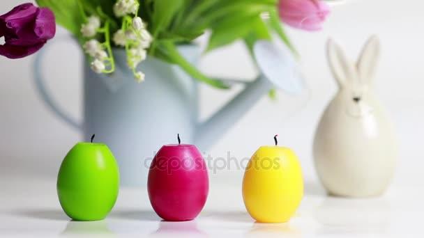 Húsvéti tojást a háttérben