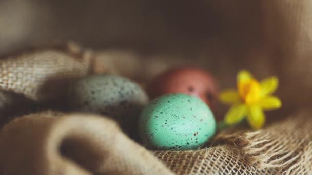 Velikonoční vejce pytloviny pozadí