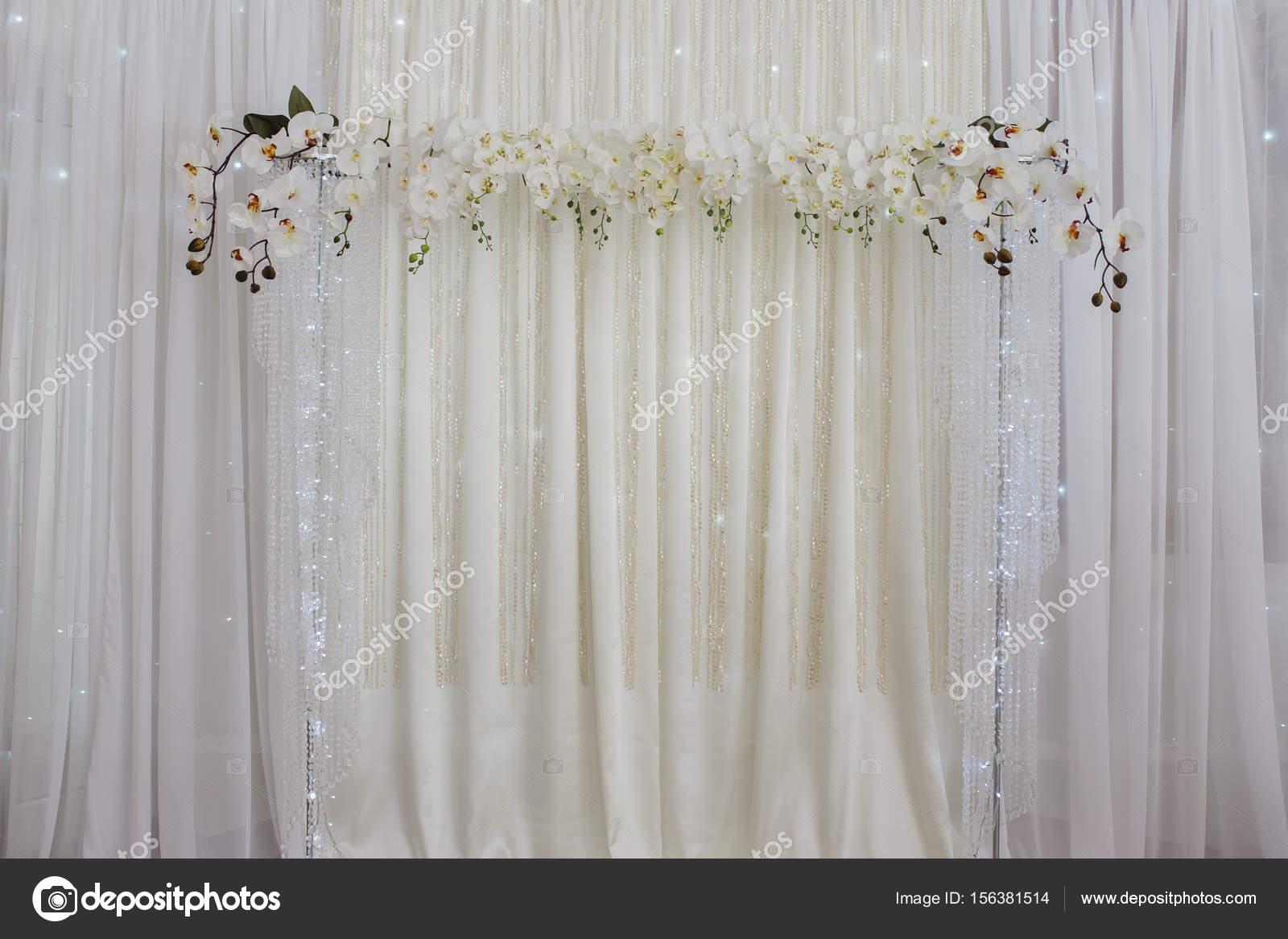 Hochzeit Dekoration Blumen Wand Stockfoto C Lelik83 156381514