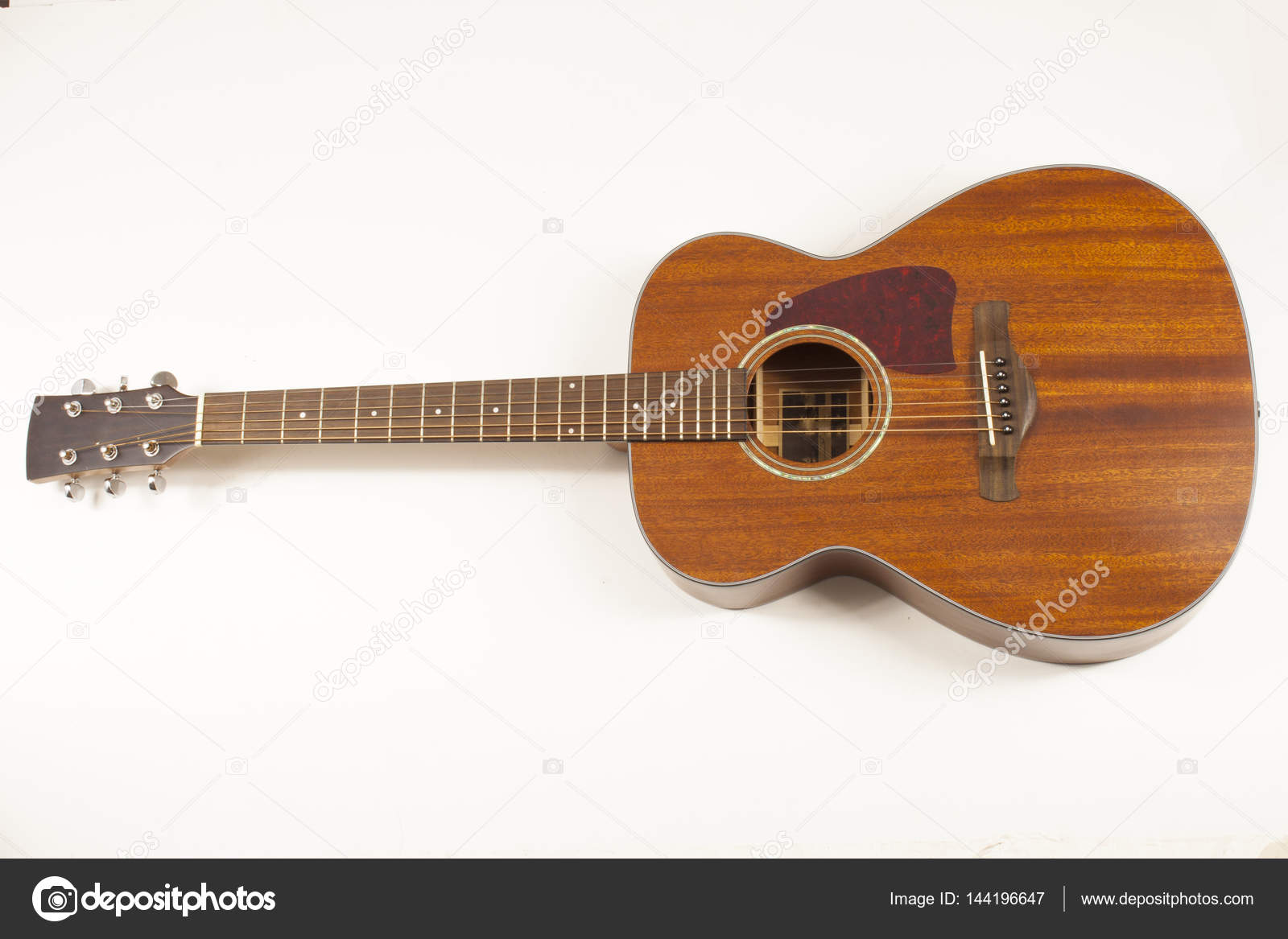 Acoustic Guitar On A White Background Stock Photo C Vazzzan Gmail