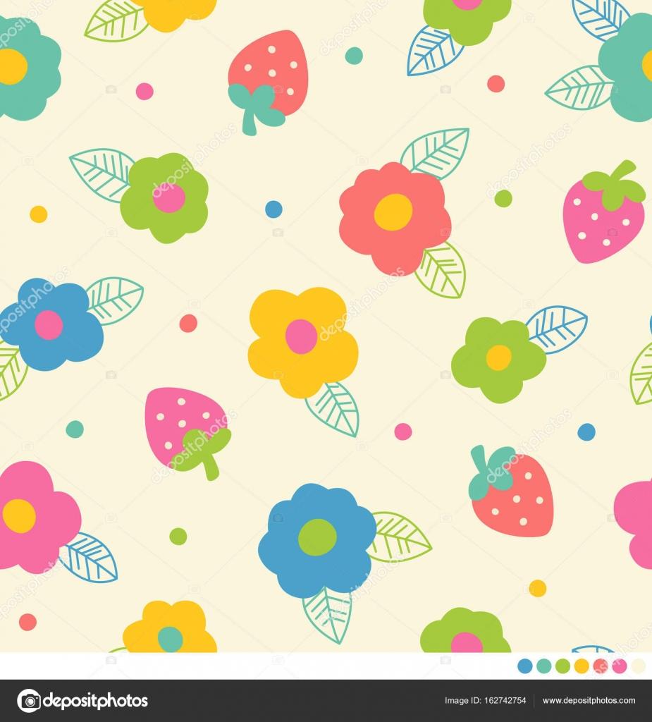 patrones sin fisuras con fresas — Vector de stock © Picnote #162742754