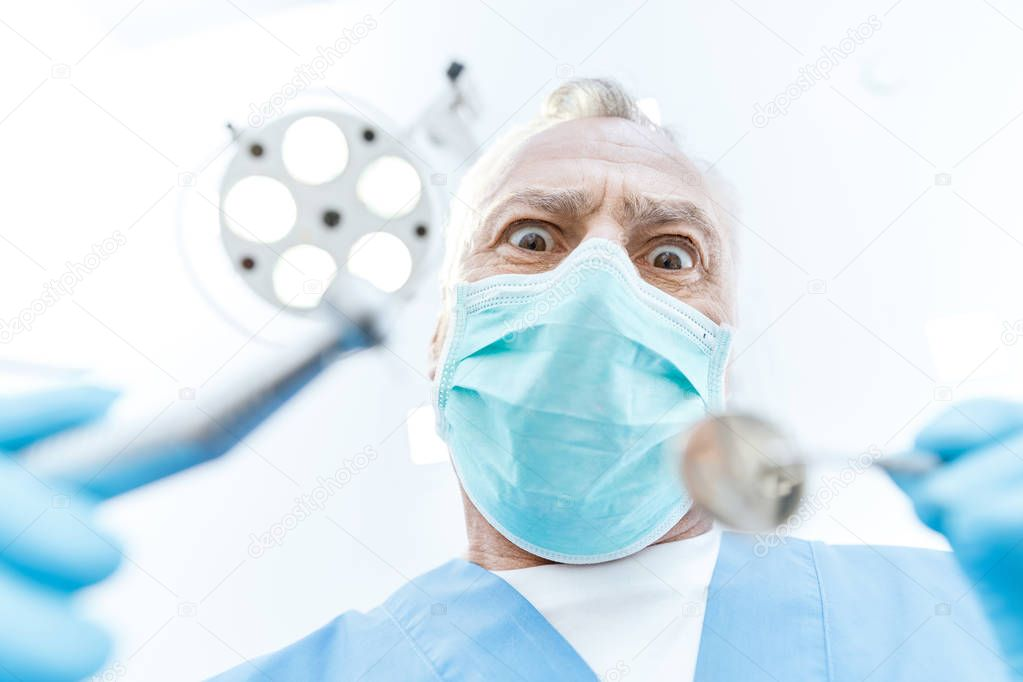 Professional dentist in clinic