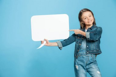 Little girl with speech bubble