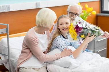 Grandparents with child in hospital