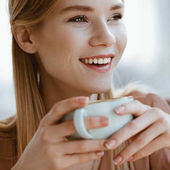 girl drinking coffee