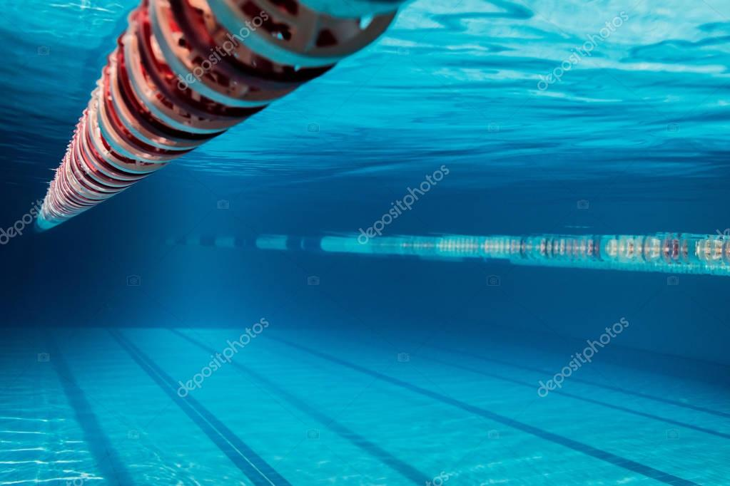 underwater picture of empty swimming pool
