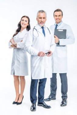 Three confident doctors