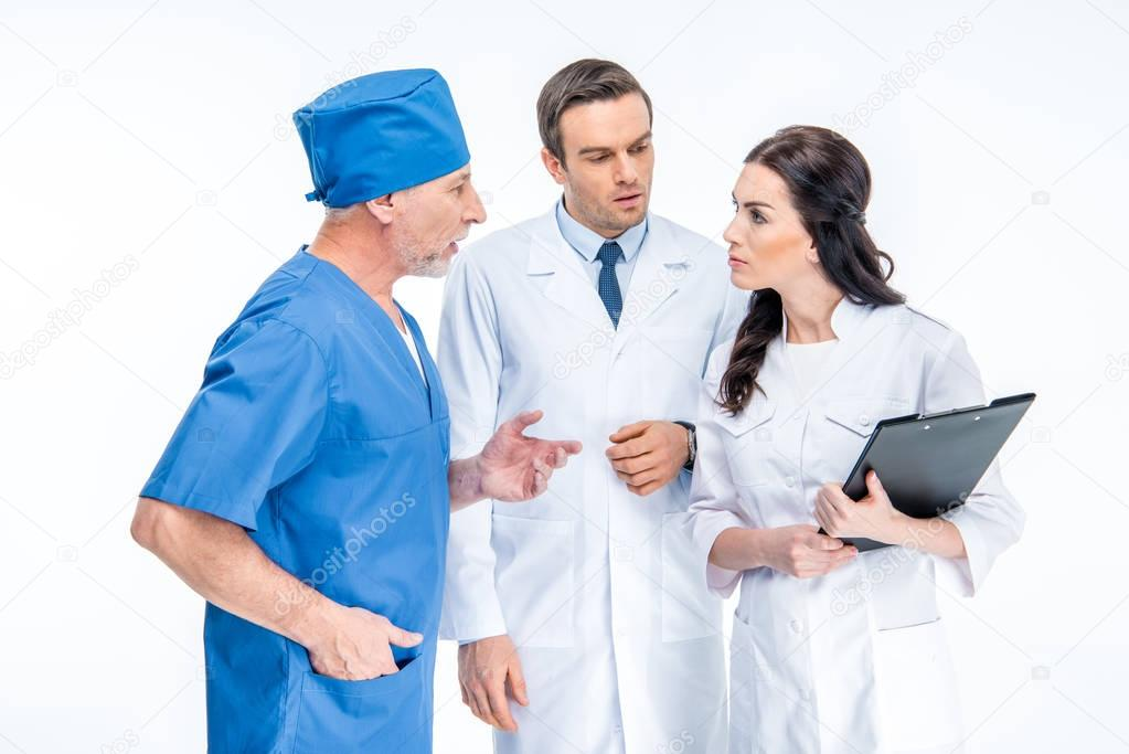 Three doctors chatting