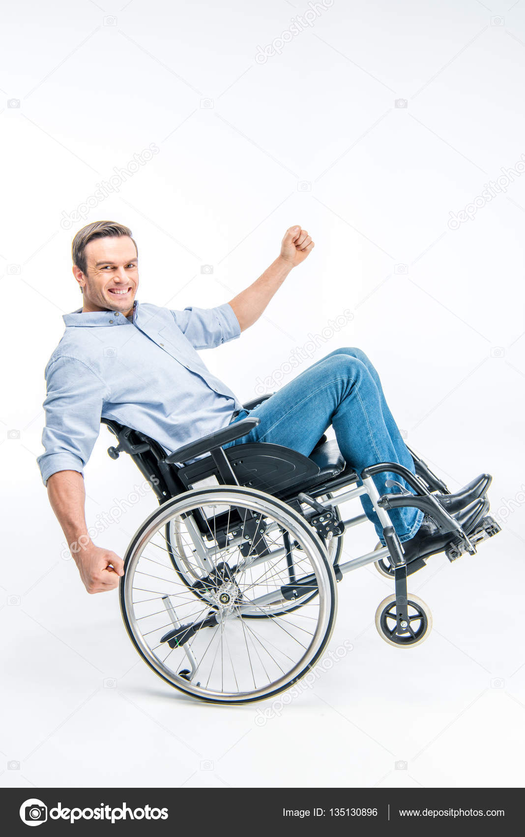 Happy Person In Wheelchair Images
