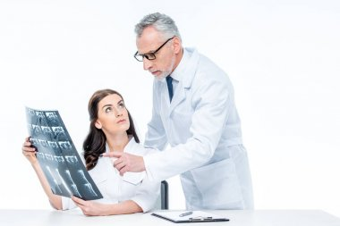 Doctors with x-ray image
