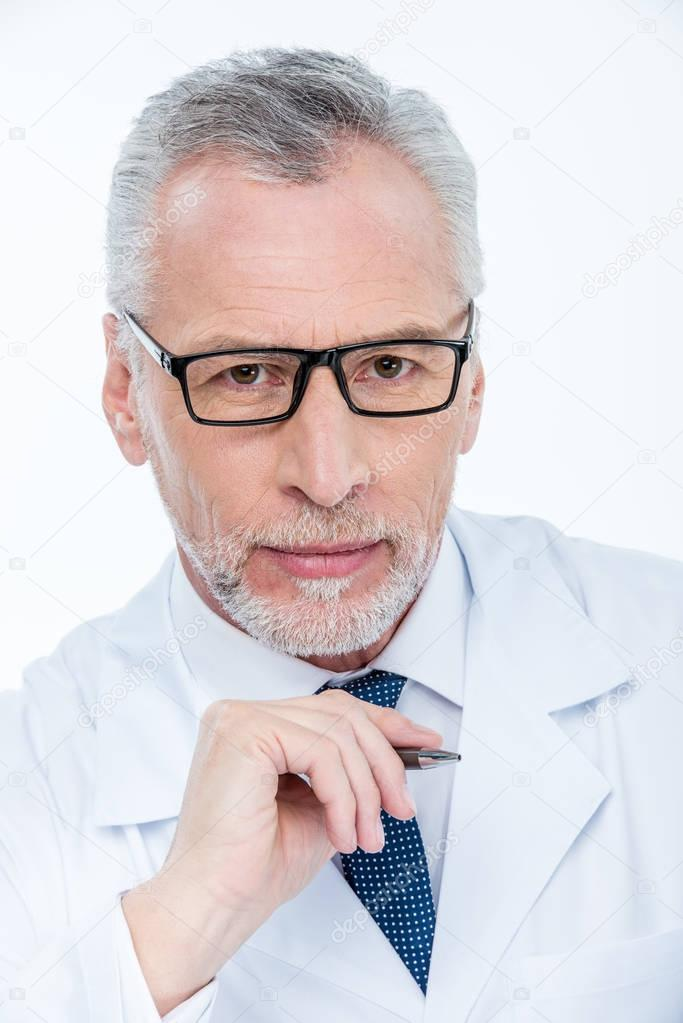 Portrait of male doctor
