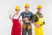 Fotografie Profesionální stavební dělníci