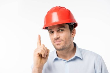 Male architect in hard hat