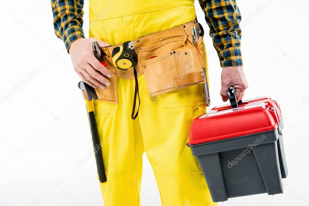 Workman with tool kit