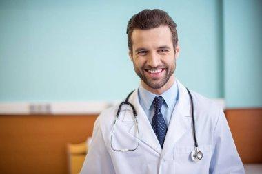 Male doctor in hospital