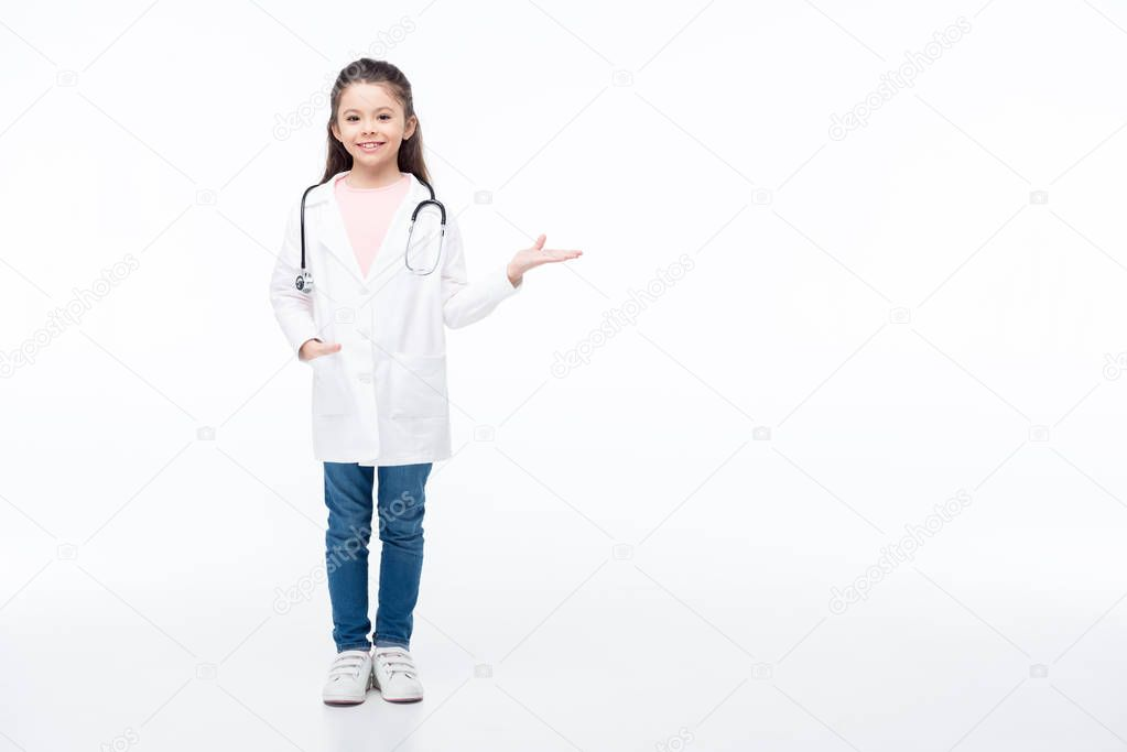 Girl in doctor costume