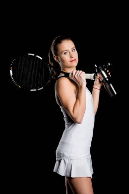 Tennis player with bottle