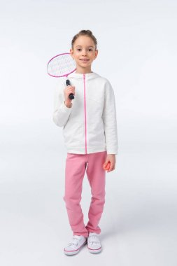 girl with badminton racket