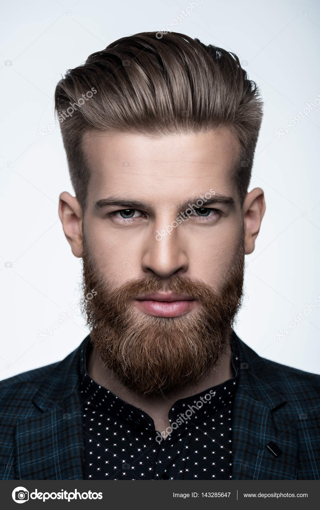stylish bearded man stock photo igortishenko 143285647
