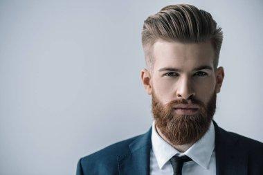 """Картина, постер, плакат, фотообои """"стильный бородатый бизнесмен """", артикул 143284429"""