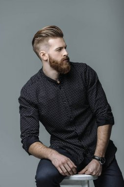 stylish bearded man