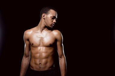 African american muscular man