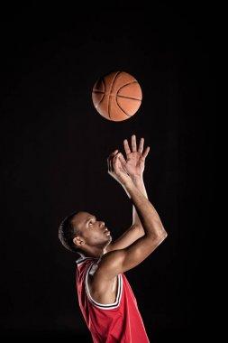 sporty basketball player