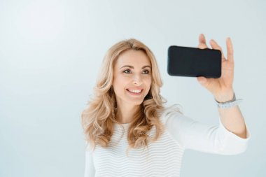 woman making selfie