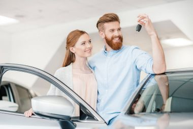 couple in dealership salon