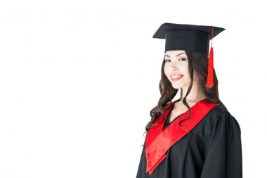 Young woman in mortarboard